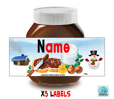 Nutella - Personalised Label - Make your own label - 750g - Christmas Theme / 2
