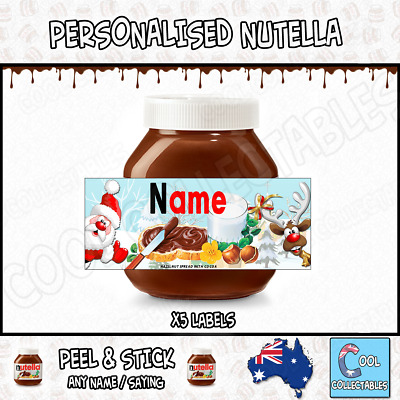Nutella - Personalised Label - Make your own label - 750g - Christmas Theme / 3