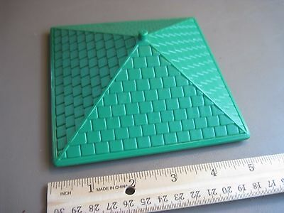 Replacement Green Square Hip Roof Lincoln Logs Toy