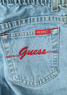 Vintage Authentic Guess Girls High Waist Blue Jeans Light Wash Girls 6x Cute!!!
