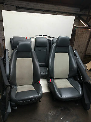 Saab 9-3 Complete Grey Interior Half Leather Seats + Door Cards As On Photos