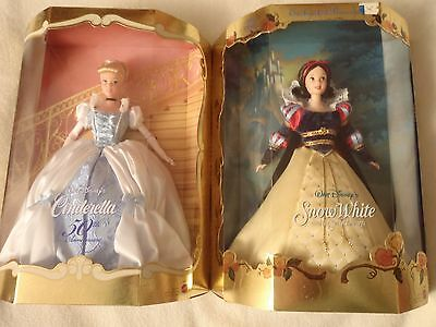 Mattel Enchanted Princess Snow White & 50th Anniversary Cinderella Doll Lot