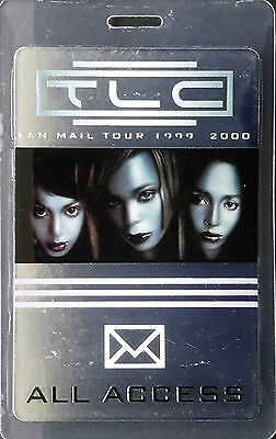 *** Tlc *** All Access Laminated Tour Backstage Pass - 1999 - 2000 Fan Mail Tour