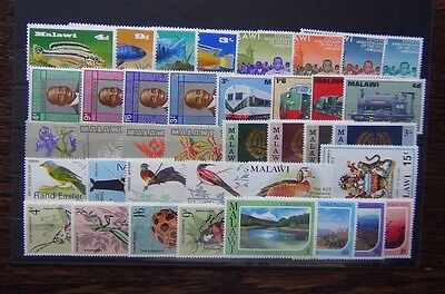 Malawi 1967 1979 sets Fish Trains Orchids Police Insects Birds Xmas etc MNH