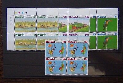 Malawi 1980 Xmas Children's Paintings Art in block x 4 MNH