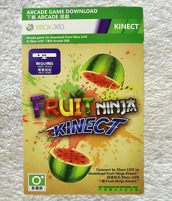 Fruit Ninja Kinect  Full Game Download Code for X box 360   Not Disc Version