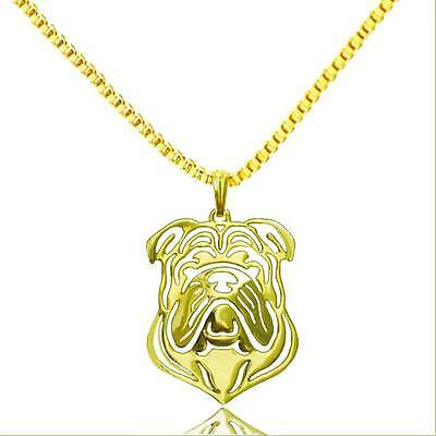English Bulldog Pendant Necklace Silver Plated ANIMAL RESCUE DONATION