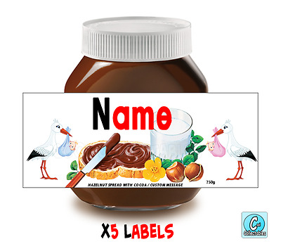 Nutella - Personalised Label - Make your own label - 750g - Baby Theme / 1