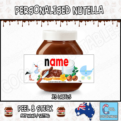 Nutella - Personalised Label - Make your own label - 750g - Baby Theme / 2