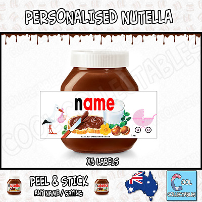 Nutella - Personalised Label - Make your own label - 750g - Baby Theme / 3