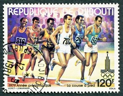DJIBOUTI 1979 120f SG772 used NG Olympic Games Moscow Running e #W29