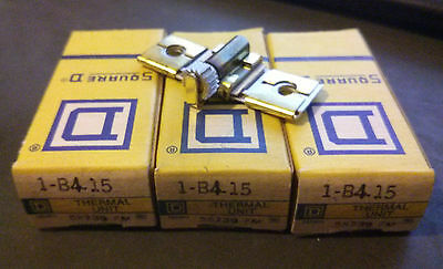 (LOT OF 3) Square D B4.15 Overload Relay Thermal Unit Heater *New in Box*