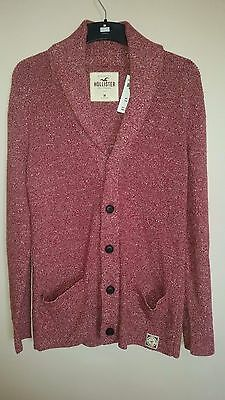 Hollister by Abercrombie Mens Cardigan Sweater Jumper Button Front Size M Medium