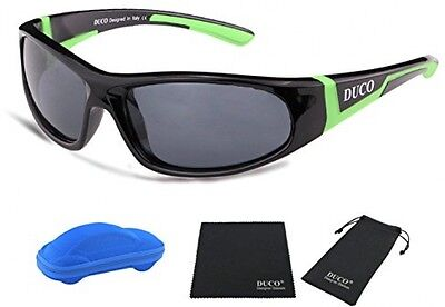 Duco Kids Sports Style Polarized Sunglasses Rubber Flexible Frame For Boys Girls