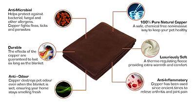 No-smell copper infused dog blanket. The natural solution to doggy smells.