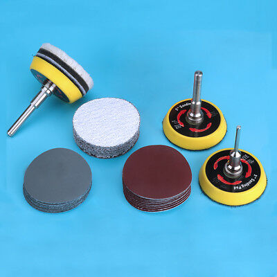 2'' 50mm Hook And Loop Sanding Disc Abrasive Sandpaper Discs Pad 60 - 5000 Grit