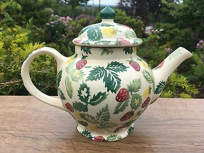 EMMA BRIDGEWATER Rare 1995 Wild Strawberry 2 Mug Teapot- 1st Quality -Unused