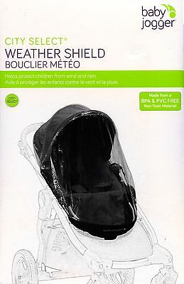 Baby Jogger Weather Shield Stroller Cover - City Select *New in Box* Free Ship