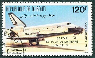 DJIBOUTI 1981 120f SG825 used NG Space Shuttle AIRMAIL STAMP b #W29