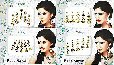 1 PACK of GOLD Diamante **CHOOSE YOUR STYLE** Indian BRIDAL Gem TIKKA BINDI