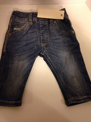 Baby~Boy~Girl~Nwt~Authentic~Diesel~Stretch Jeans~Elastic Waist~Sz 6 Mo~Msrp $139