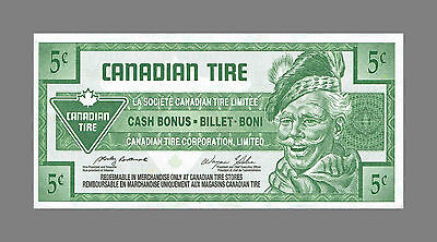 CANADIAN TIRE MONEY NOTE 5 Cents