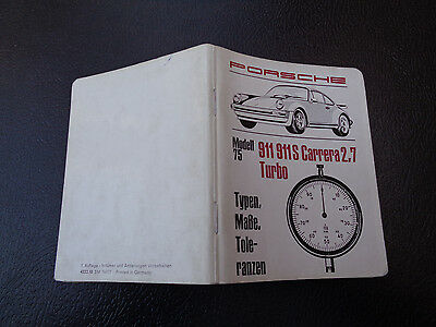 1977 Porsche 911,S, Carrera 2.7 Turbo Pocket Book Technical Specifications