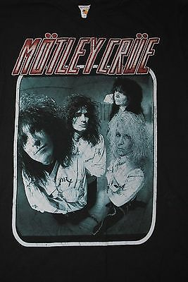 MOTLEY CRUE 1980's Original Tour Black T Shirt Size Large