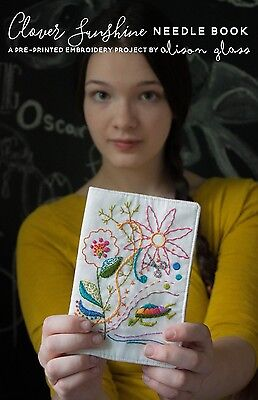 CLOVER SUNSHINE NEEDLE BOOK EMBROIDERY PATTERN, From Alison Glass NEW