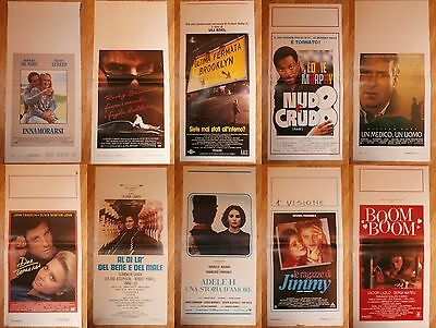 10 X LOCANDINA ORIGINAL ITALIAN 80s & 90s CINEMA ASSORTED MOVIE POSTERS-ref M3