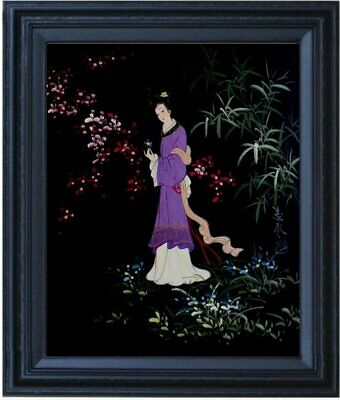 Framed, Portrait of an Ancient Chinese Lady, Hand Painted Oil Painting, 16x20in