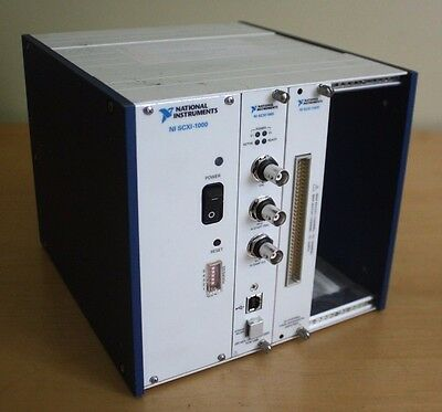 National Instruments SCXI-1000 Chassis w/ SCXI-1600, SCXI-1102C - USFF (D15-G26)