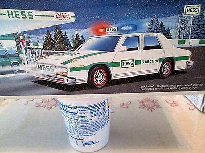 Hess Truck (1993) Patrol Car With Lights And Sounds -New In Box