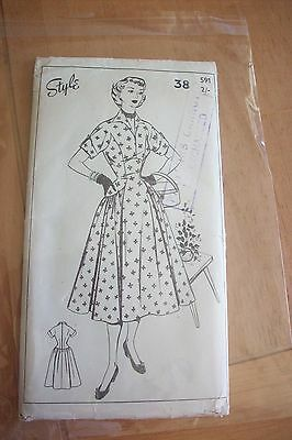 Style Dress Sewing Pattern  No.591 Vintage 1930's