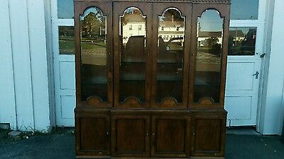 Henredon 18Th Century Collection Yew Wood Bookcase Breakfront China Cabinet