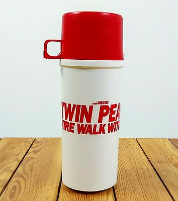 Vintage TWIN PEAKS Fire Walk With Me Promotional COFFEE Thermos​ Lynch 1992