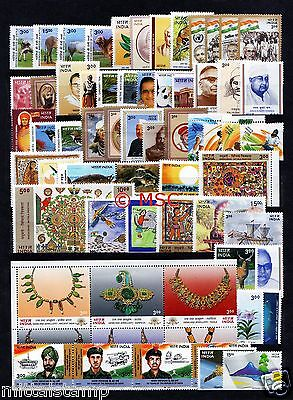 India 2000 Complete Year Collector Set Of 68 Stamps Mnh Good Condition