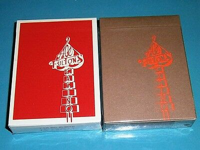 ACE FULTON'S CASINO Playing Cards 1 Red Hot + 1 Tobacco Brown Deck Dan & Dave
