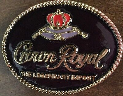 Crown Royal The Legendary Import Belt Buckle 1994 Seagrams