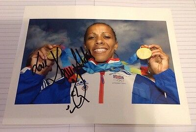 Kelly Holmes  -  Olympic Champion 2004   -  Signed  Col Photo - Uacc