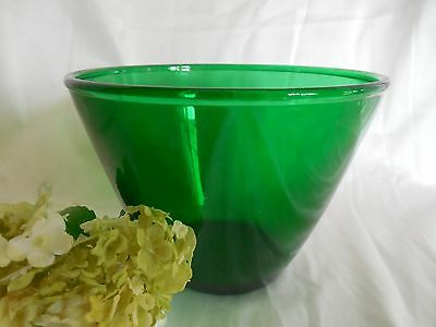 Vintage Hocking Forest Green Glass Splash Proof Medium Mixing Bowl 1957-1965