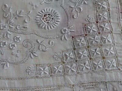 Hand Embroidery Pulled Work Hanky - Wedding - Vintage Keepsake