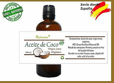Aceite de coco virgen 100 ml.