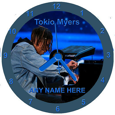 Tokio Myers Cd Clock personalised free stand, gift box, Britains Got Talent