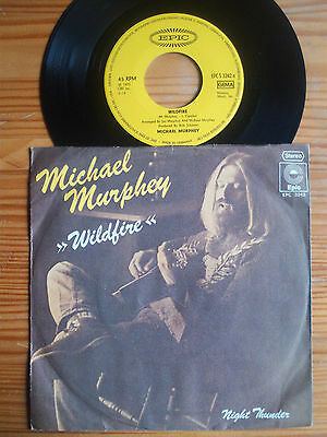 "7"" Michael Murphey : Wildfire / Night Thunder  Vinyl Single Country Western"