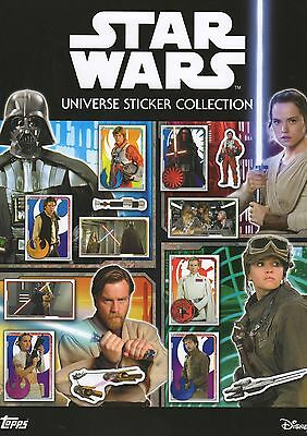 Topps Star Wars Universe sticker collection complete set of 320 stickers + album