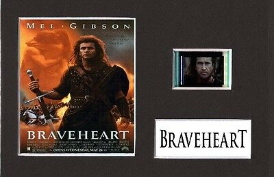 Braveheart Film Cell Presentation Display 6 x 4 Mounted Mel Gibson