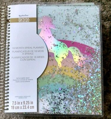 New Recollections Unicorn Shaker Cover 2017-18 18-Month Planner....wow!!