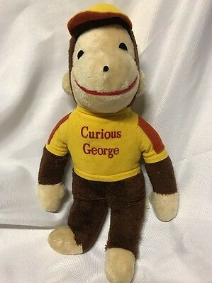 "Vintage 1980's Knickerbocker Stuffed Plush Animal; Curious George 14"" Tall"