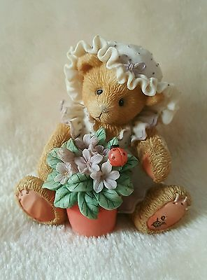 "Cherished Teddies Violet ""Blessings Bloom When You Are Near"" 1995 Priscilla Hill"